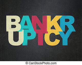 Finance concept: Bankruptcy on School board background - ...