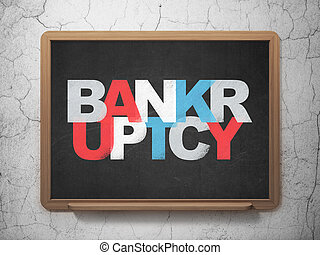 Finance concept: Bankruptcy on School board background