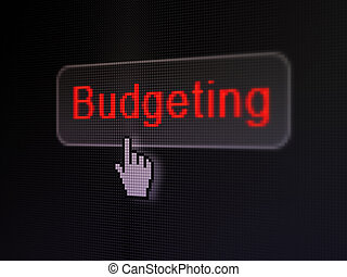 Finance concept: Budgeting on digital button background