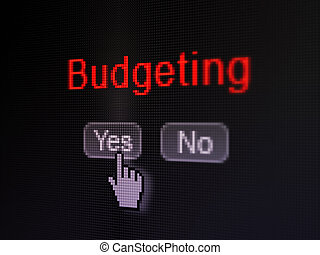 Finance concept: Budgeting on digital computer screen