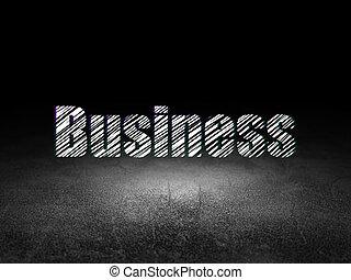 Finance concept: Business in grunge dark room