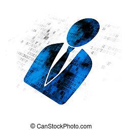 Finance concept: Business Man on Digital background