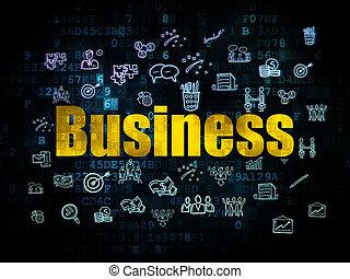 Finance concept: Business on Digital background