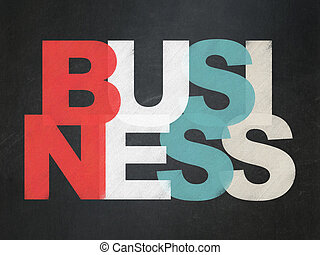 Finance concept: Business on School board background