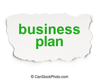 Finance concept: Business Plan on Paper background