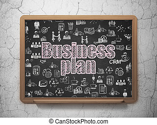 Finance concept: Business Plan on School board background
