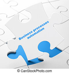 Finance concept: Business Processes Automation on puzzle -...