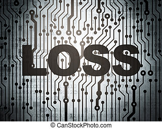 Finance concept: circuit board with Loss