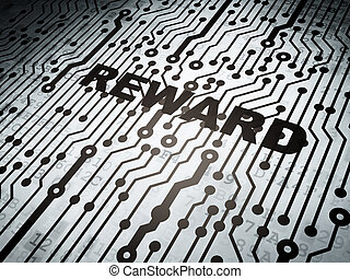 Finance concept: circuit board with Reward