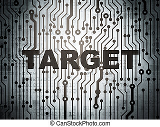 Finance concept: circuit board with Target