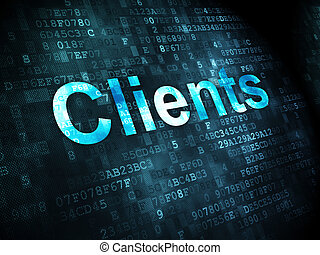 Finance concept: Clients on digital background - Finance...