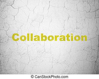 Finance concept: Collaboration on wall background