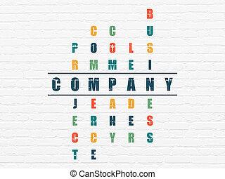Finance concept: Company in Crossword Puzzle