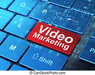 Finance concept: computer keyboard with word Video Marketing...