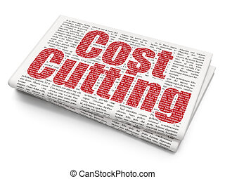 Finance concept: Cost Cutting on Newspaper background