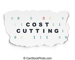 Finance concept: Cost Cutting on Torn Paper background