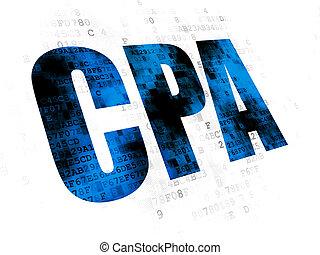 Finance concept: CPA on Digital background - Finance...