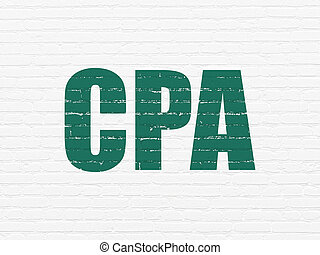 Finance concept: CPA on wall background - Finance concept:...