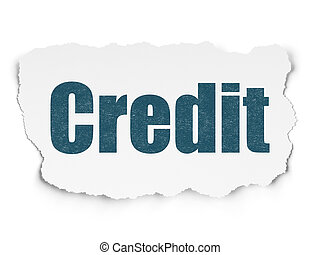 Finance concept: Credit on Torn Paper background