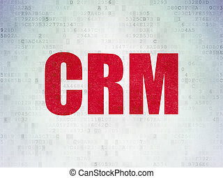 Finance concept: CRM on Digital Data Paper background