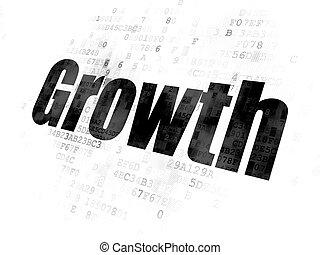 finance, concept:, croissance, sur, arrière-plan numérique