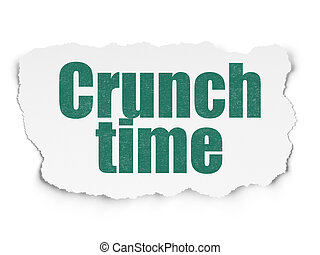 Finance concept: Crunch Time on Torn Paper background -...
