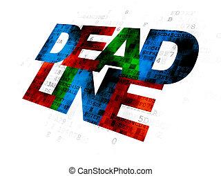 Finance concept: Deadline on Digital background