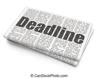 Finance concept: Deadline on Newspaper background