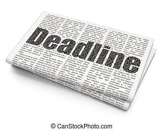 Finance concept: Deadline on Newspaper background
