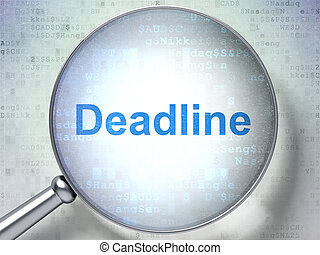 Finance concept: Deadline with optical glass