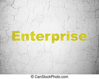 Finance concept: Enterprise on wall background