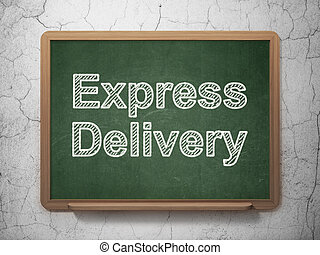 Finance concept: Express Delivery on chalkboard background