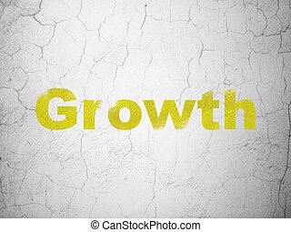 Finance concept: Growth on wall background