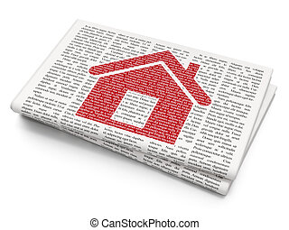 Finance concept: Home on Newspaper background