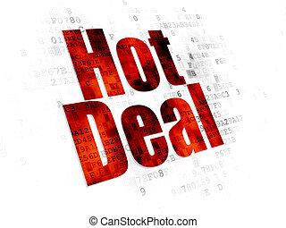 Finance concept: Hot Deal on Digital background