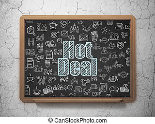Finance concept: Hot Deal on School board background