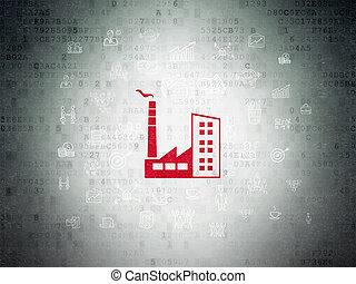 Finance concept: Industry Building on Digital Data Paper background