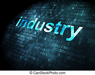 Finance concept: Industry on digital background