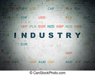 Finance concept: Industry on Digital Data Paper background