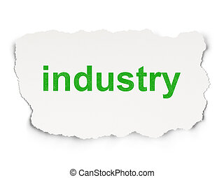 Finance concept: Industry on Paper background