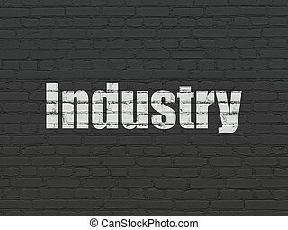 Finance concept: Industry on wall background
