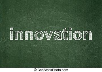 Finance concept: Innovation on chalkboard background