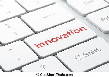 Finance concept: Innovation on computer keyboard background
