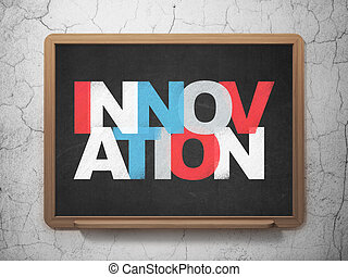 Finance concept: Innovation on School Board background