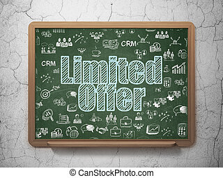 Finance concept: Limited Offer on School board background