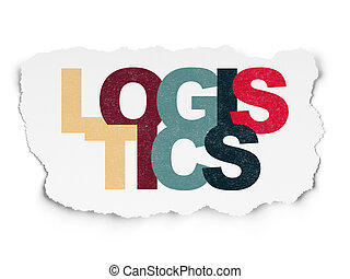 Finance concept: Logistics on Torn Paper background