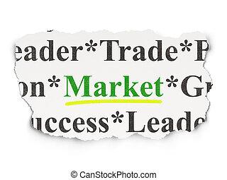 Finance concept: Market on Paper background
