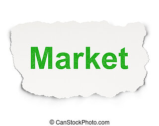 Finance concept: Market on Paper background