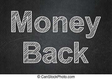 Finance concept: Money Back on chalkboard background
