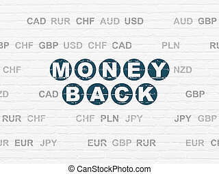 Finance concept: Money Back on wall background